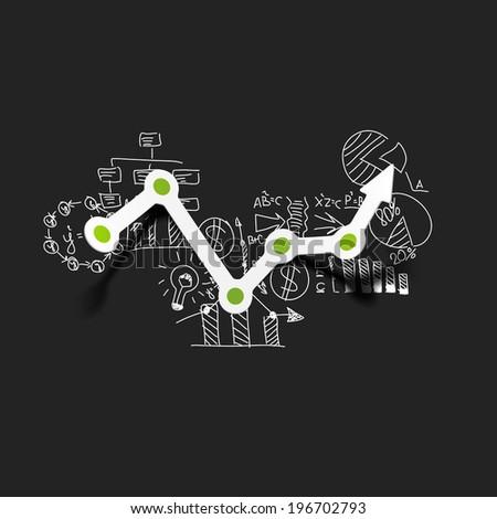 Drawing business formulas: chart - stock vector