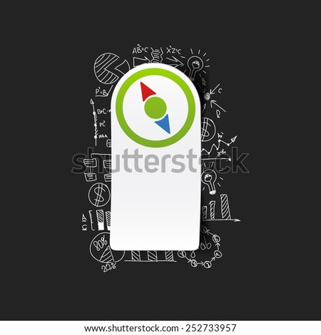 Drawing business formulas: compass - stock vector