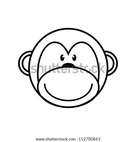 Stock Images similar to ID 115403245 - cute cartoon monkey ...