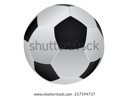 drawing of a soccer ball on white background - stock vector