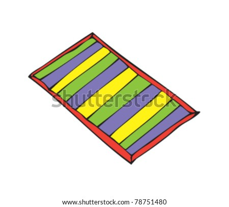 drawing of a towel - stock vector
