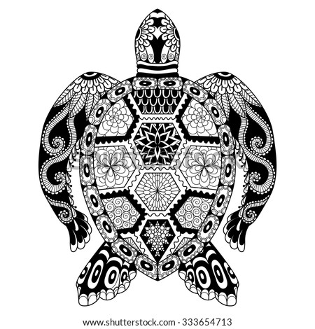 Turtle Design For Tattoo Stock Photos Illustrations And Vector Art