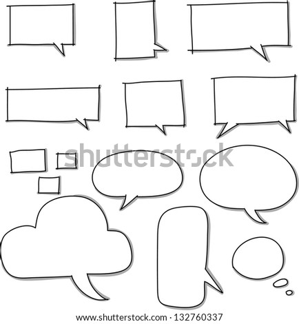 Drawn comic style talk - stock vector