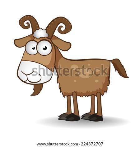 Drawn vector goat. - stock vector