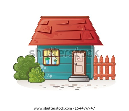 dream house - stock vector