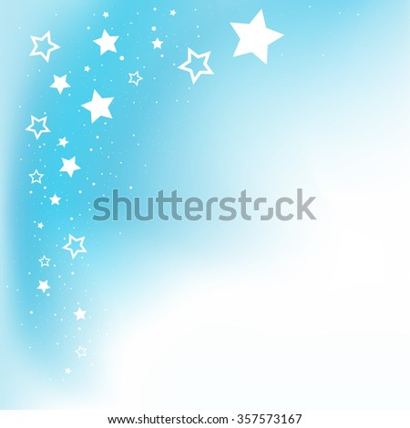 Dream stars blue background and copyspace for message - stock vector