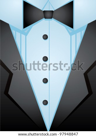 Dress coat - stock vector
