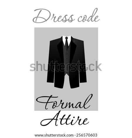Dress code. Options. Vector. - stock vector