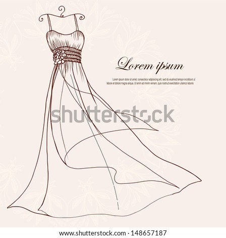 Dress on a hanger - stock vector