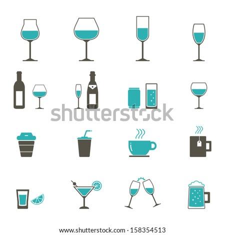 Drink Icon - Color - stock vector