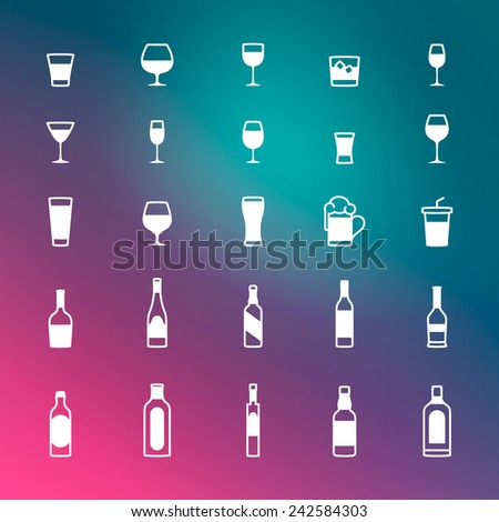 Drink icons  eps10 - stock vector