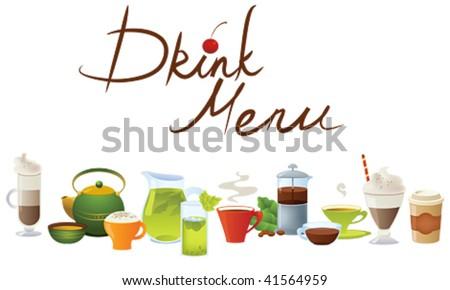 Drink menu - stock vector