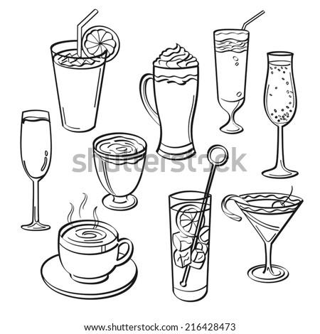 Drink Set - stock vector