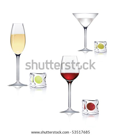 Drinks - stock vector