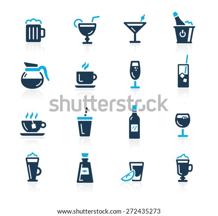 Drinks Icons // Azure Series - stock vector