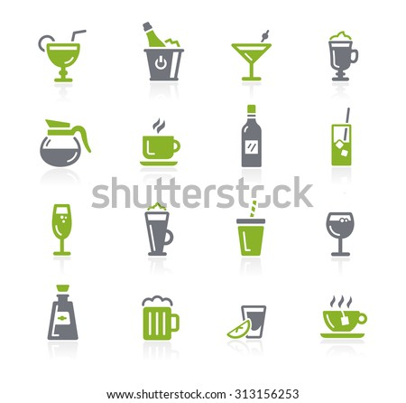 Drinks Icons // Natura Series - stock vector