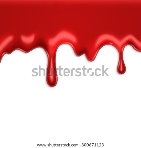 Dripping blood. EPS10 vector - stock vector