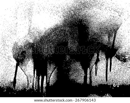 Drips Texture . Paint Drops Texture . Stain Texture . Grunge Texture . Vector Distress Background . Smudge Texture . Distress Texture . Grunge Texture . Dirt Texture . Smear Overlay Texture .  - stock vector