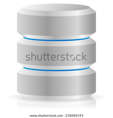 Drive, HDD, server, hosting icon - stock vector