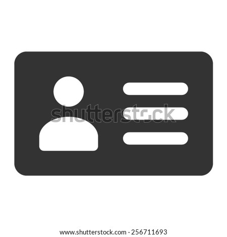 Driver's license identification card flat icon - stock vector