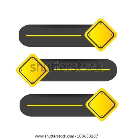 driving signal in different directions - stock vector
