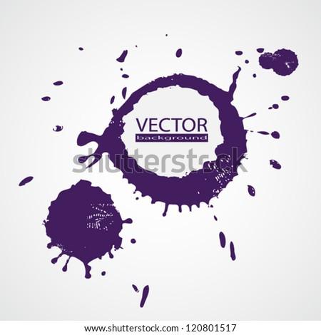Drop ink splatter. EPS10 vector. - stock vector