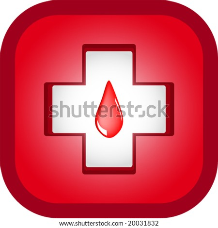 Drop of Blood, medical icons - stock vector