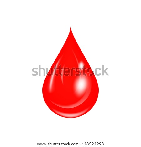 Drop of blood vector illustration. Blood drop icon. Isolated on white blood drop. - stock vector
