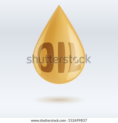 drop of oil and write isolated on white background. Vector Illustration eps10, editable and isolated. - stock vector