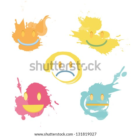 Drop paint on isolated background. Vector design. - stock vector