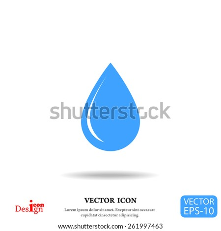 drop vector icon - stock vector
