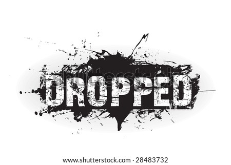Dropped grunge icon,rubber stamps - stock vector