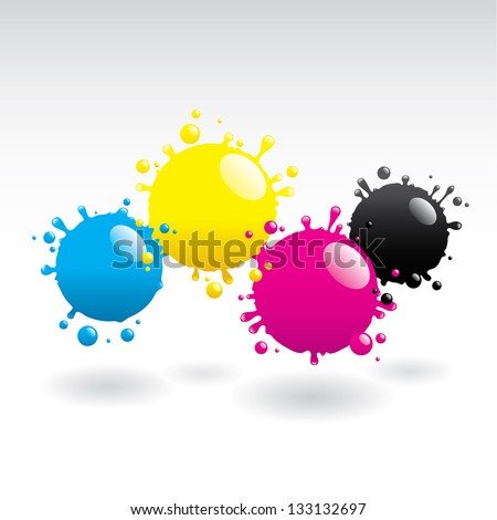 Drops of paint - stock vector