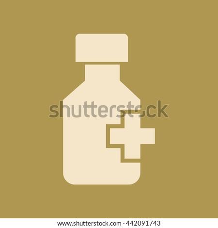 Drug Bottle Icon. - stock vector