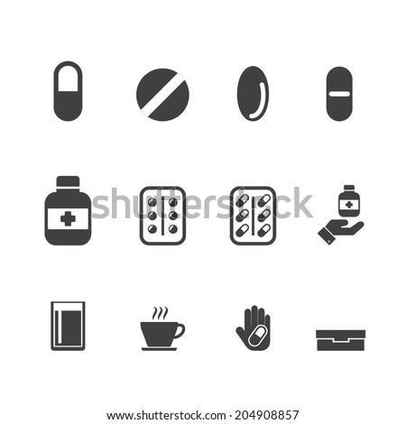 drug, medication vector set - stock vector