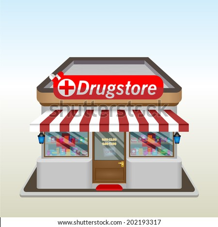 Drug Store icon. Vector illustration. Eps 10. - stock vector