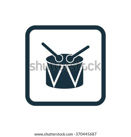 drum Icon Vector. drum Icon Art. drum Icon Picture. drum Icon Image. drum Icon logo. drum Icon Sign. drum Icon Flat. drum Icon design, on white background - stock vector