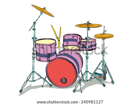 drum set  - stock vector