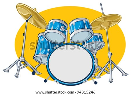 Drums - stock vector