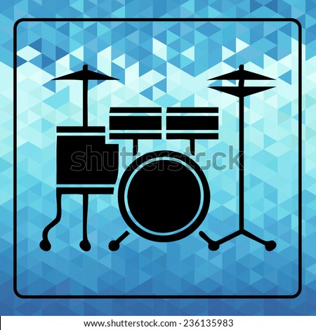 drumset icon. vector illustration - stock vector