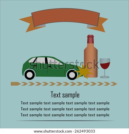Drunk driving - stock vector