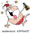 Drunk Santa Clause - stock vector