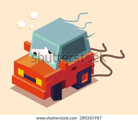 drunk while drive. vector illustration - stock vector