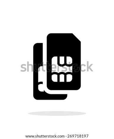 Dual SIM cards simple icon on white background. Vector illustration. - stock vector