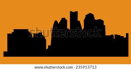 Dubai, United Arab Emirates skyline - stock vector