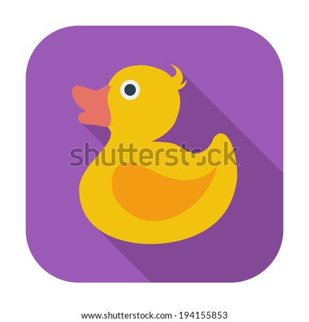 Duck. Single flat color icon. Vector illustration. - stock vector