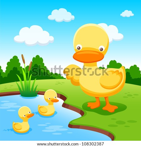 Duck vector - stock vector