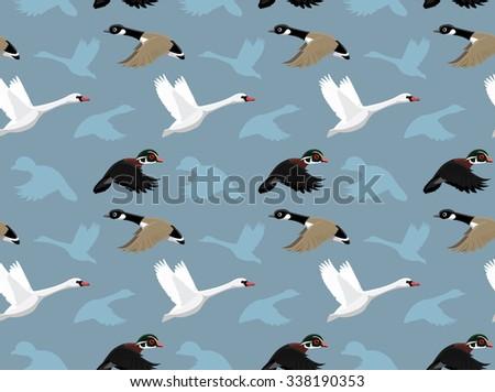 Ducks Wallpaper 1 - stock vector