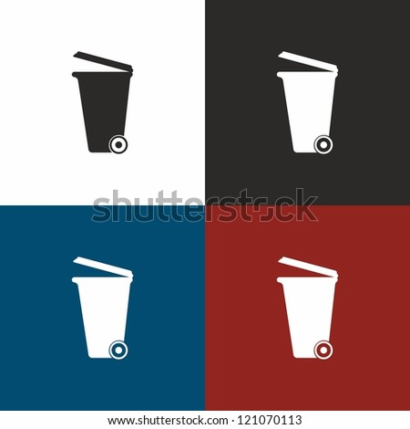 Dumpster, vector, icon - stock vector