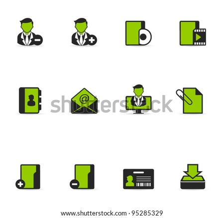 Duotone Icons - Group Collaboration - stock vector